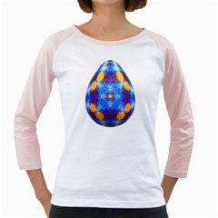 Easter Eggs Egg Blue Yellow Girly Raglans