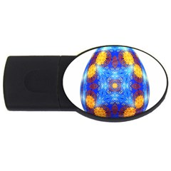 Easter Eggs Egg Blue Yellow Usb Flash Drive Oval (2 Gb) by Nexatart