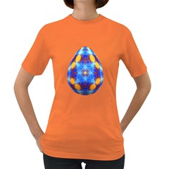 Easter Eggs Egg Blue Yellow Women s Dark T Shirt