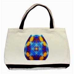 Easter Eggs Egg Blue Yellow Basic Tote Bag by Nexatart