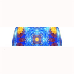 Easter Eggs Egg Blue Yellow Large Bar Mats by Nexatart