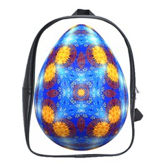 Easter Eggs Egg Blue Yellow School Bags(large)  by Nexatart