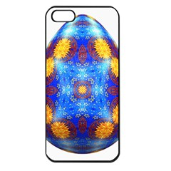 Easter Eggs Egg Blue Yellow Apple Iphone 5 Seamless Case (black)