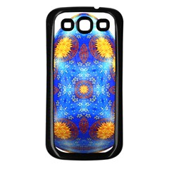 Easter Eggs Egg Blue Yellow Samsung Galaxy S3 Back Case (black)