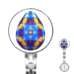 Easter Eggs Egg Blue Yellow Stainless Steel Nurses Watch by Nexatart