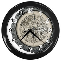 Clock Celtic Knot Time Celtic Knot Wall Clocks (black) by Nexatart
