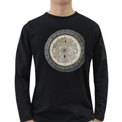 Clock Celtic Knot Time Celtic Knot Long Sleeve Dark T Shirts