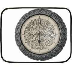 Clock Celtic Knot Time Celtic Knot Fleece Blanket (mini)