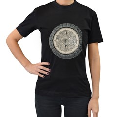 Clock Celtic Knot Time Celtic Knot Women s T Shirt (black) by Nexatart