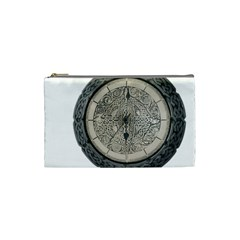 Clock Celtic Knot Time Celtic Knot Cosmetic Bag (small)