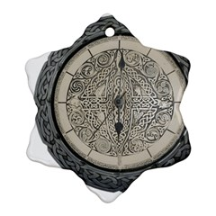 Clock Celtic Knot Time Celtic Knot Ornament (snowflake)