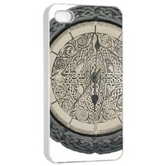 Clock Celtic Knot Time Celtic Knot Apple Iphone 4/4s Seamless Case (white)