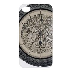 Clock Celtic Knot Time Celtic Knot Apple Iphone 4/4s Hardshell Case by Nexatart