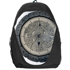 Clock Celtic Knot Time Celtic Knot Backpack Bag by Nexatart