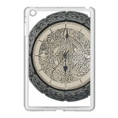 Clock Celtic Knot Time Celtic Knot Apple Ipad Mini Case (white) by Nexatart