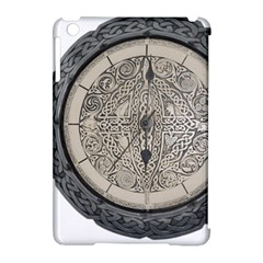 Clock Celtic Knot Time Celtic Knot Apple Ipad Mini Hardshell Case (compatible With Smart Cover) by Nexatart