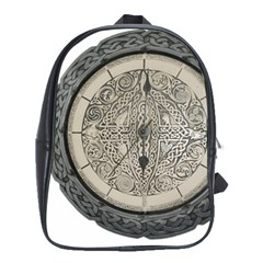 Clock Celtic Knot Time Celtic Knot School Bags (xl)  by Nexatart