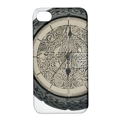 Clock Celtic Knot Time Celtic Knot Apple Iphone 4/4s Hardshell Case With Stand