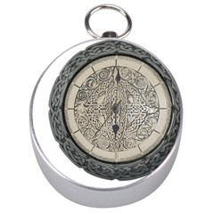 Clock Celtic Knot Time Celtic Knot Silver Compasses by Nexatart
