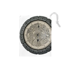 Clock Celtic Knot Time Celtic Knot Drawstring Pouches (small)