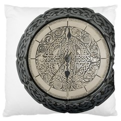 Clock Celtic Knot Time Celtic Knot Large Flano Cushion Case (one Side)