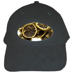 Lemon Dried Fruit Orange Isolated Black Cap