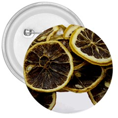 Lemon Dried Fruit Orange Isolated 3  Buttons by Nexatart