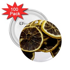 Lemon Dried Fruit Orange Isolated 2 25  Buttons (100 Pack)