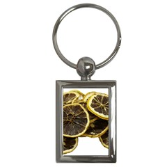 Lemon Dried Fruit Orange Isolated Key Chains (rectangle)  by Nexatart