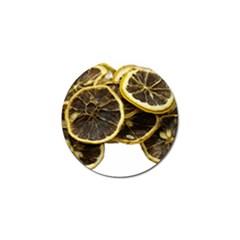 Lemon Dried Fruit Orange Isolated Golf Ball Marker by Nexatart