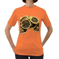Lemon Dried Fruit Orange Isolated Women s Dark T Shirt by Nexatart