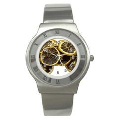 Lemon Dried Fruit Orange Isolated Stainless Steel Watch by Nexatart