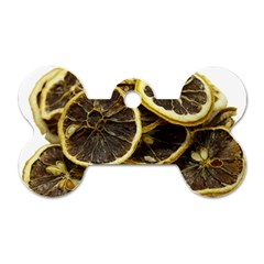 Lemon Dried Fruit Orange Isolated Dog Tag Bone (two Sides) by Nexatart