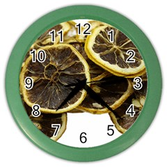 Lemon Dried Fruit Orange Isolated Color Wall Clocks by Nexatart