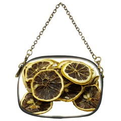 Lemon Dried Fruit Orange Isolated Chain Purses (two Sides)  by Nexatart
