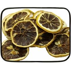Lemon Dried Fruit Orange Isolated Fleece Blanket (mini) by Nexatart