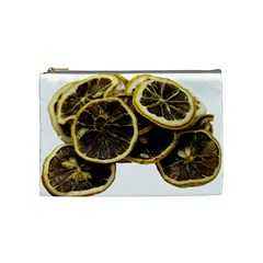 Lemon Dried Fruit Orange Isolated Cosmetic Bag (medium)  by Nexatart