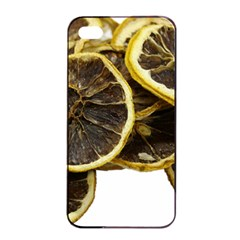 Lemon Dried Fruit Orange Isolated Apple Iphone 4/4s Seamless Case (black) by Nexatart