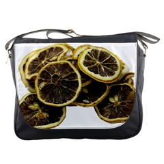 Lemon Dried Fruit Orange Isolated Messenger Bags by Nexatart