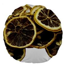 Lemon Dried Fruit Orange Isolated Large 18  Premium Round Cushions by Nexatart