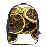 Lemon Dried Fruit Orange Isolated School Bags (XL)  Front