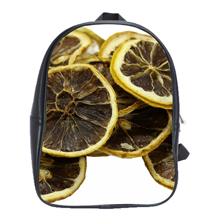Lemon Dried Fruit Orange Isolated School Bags (XL)