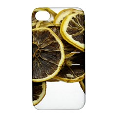 Lemon Dried Fruit Orange Isolated Apple Iphone 4/4s Hardshell Case With Stand by Nexatart