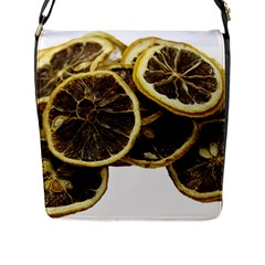 Lemon Dried Fruit Orange Isolated Flap Messenger Bag (l)  by Nexatart