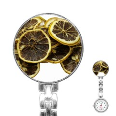 Lemon Dried Fruit Orange Isolated Stainless Steel Nurses Watch