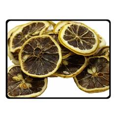 Lemon Dried Fruit Orange Isolated Double Sided Fleece Blanket (small)  by Nexatart