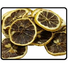 Lemon Dried Fruit Orange Isolated Double Sided Fleece Blanket (medium)  by Nexatart