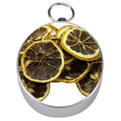 Lemon Dried Fruit Orange Isolated Silver Compasses
