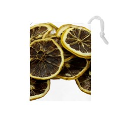 Lemon Dried Fruit Orange Isolated Drawstring Pouches (medium)