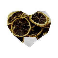 Lemon Dried Fruit Orange Isolated Standard 16  Premium Flano Heart Shape Cushions by Nexatart